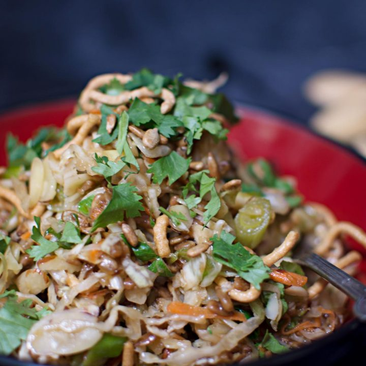 Try this easy to make and tasty Oriental Salad! Recipe from @LittleFiggyFood.
