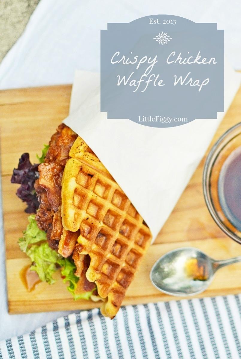 Chicken-Waffle-Wrap-@LittleFiggyFood-#Breakfastfordinner