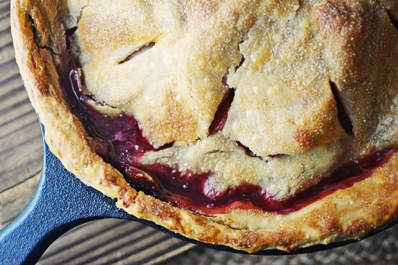 Mulled Apple and Blackberry Pie