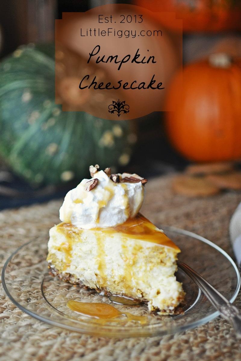 Pumpkin Cheesecake - #FallFood - @LittleFiggyFood