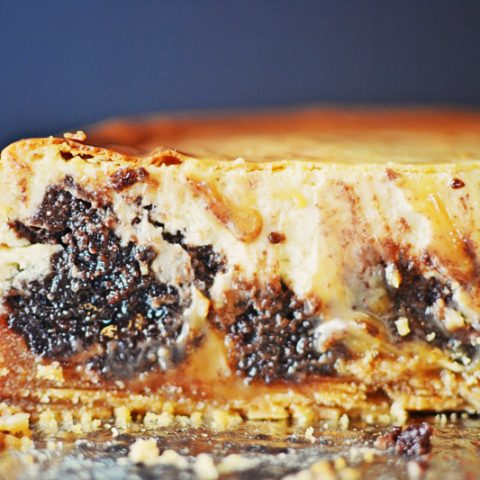 #Caramel #Brownie #Cheesecake