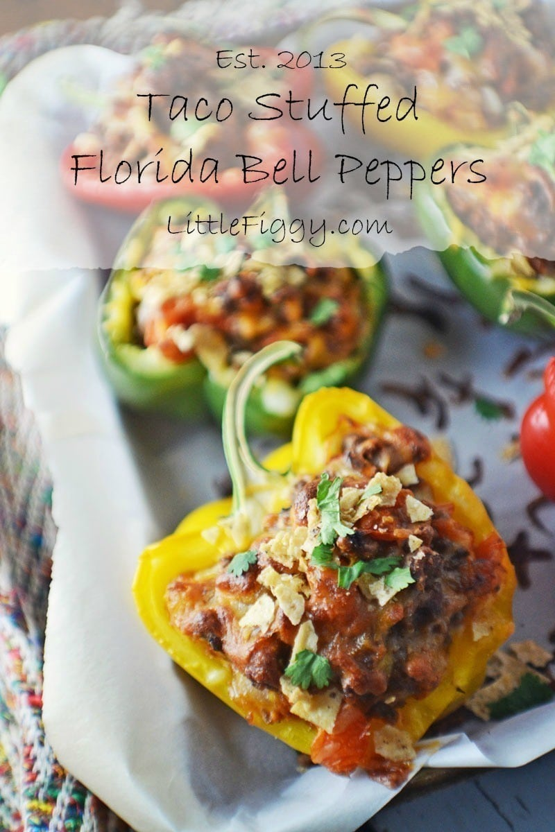 #MexicanFood - Perfect for Cinco de Mayo! They are easy to make and taste great, Taco Stuffed Bell Peppers - Recipe found @LittleFiggyFood