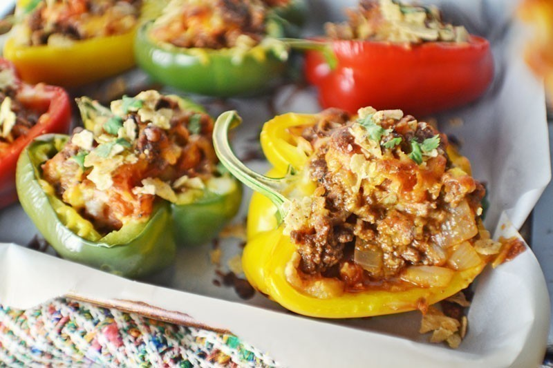 Taco Stuffed Florida Bell Peppers