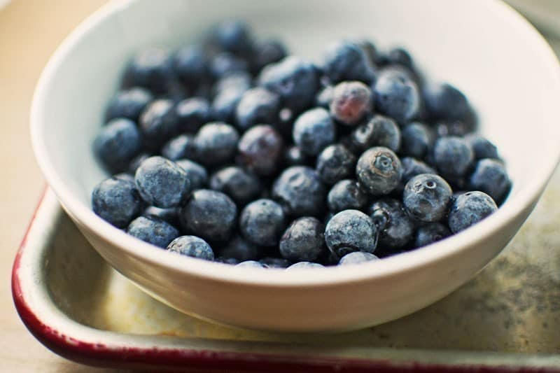 Blueberries with Lemon Brown Sugar Cream