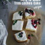 Easy to make Tres Leches Cake Recipe Idea