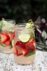 Outdoor Party Ideas   Strawberry Cucumber Drink