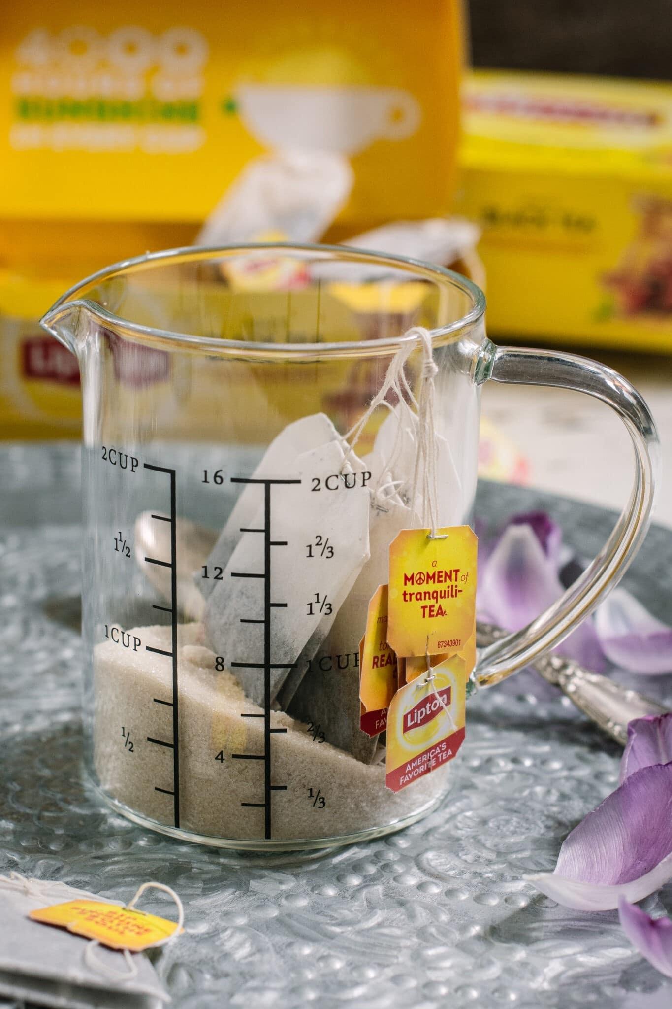 Preparing Lipton Tea