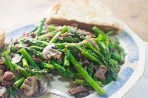 Asparagus Mushrooms with Prosciutto