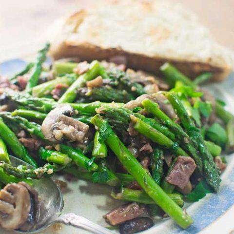 #Asparagus - #Mushrooms - @LittleFiggyFood