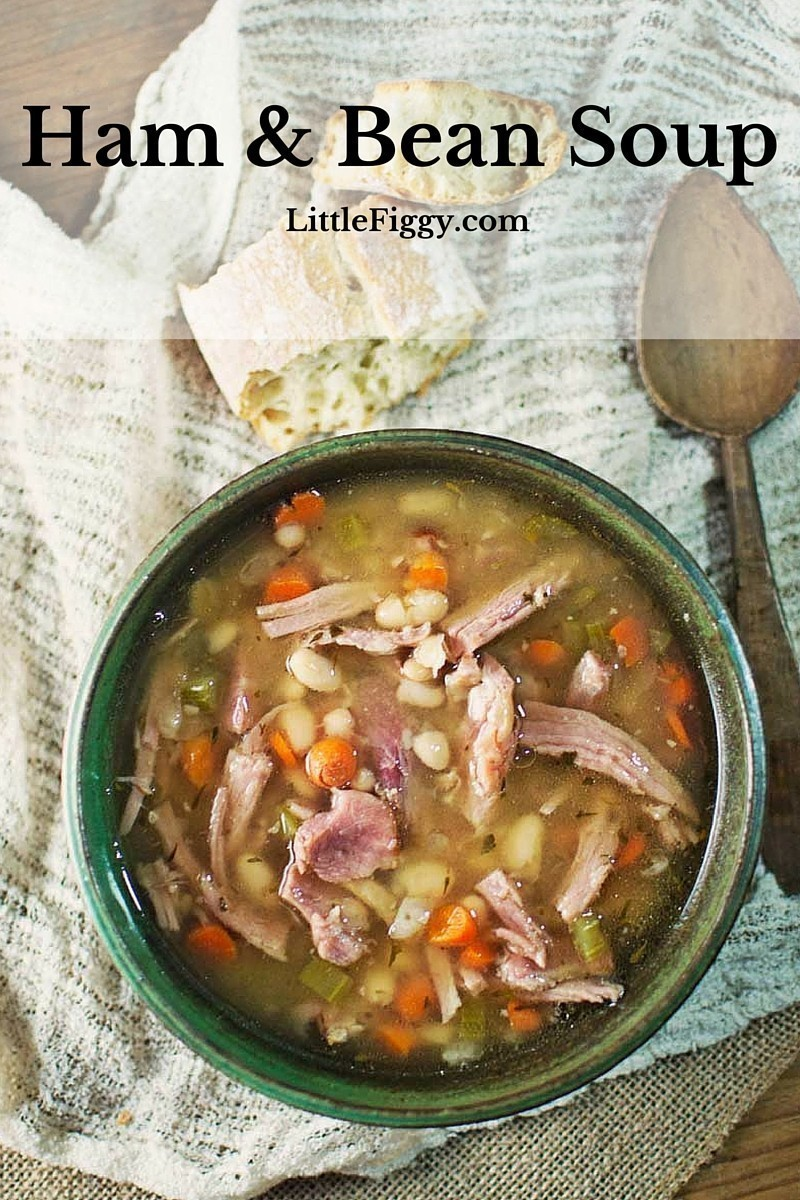 This Ham and Bean Soup recipe is so tasty and warming!!! Recipe @LittleFiggyFood