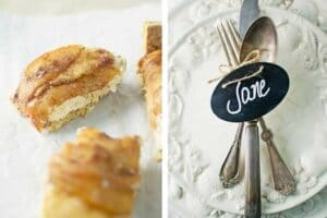 Toffee Apple Cheesecake Bars PLUS Holiday Place Settings