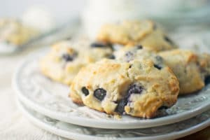 Blueberry Lemon Ricotta Scones
