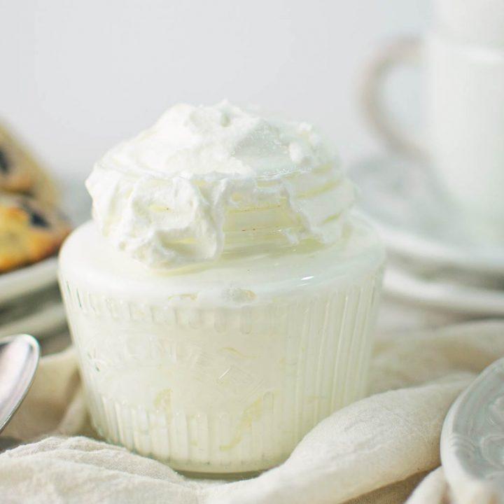 Cheats Clotted Cream - #Cream - @LittleFiggyFood