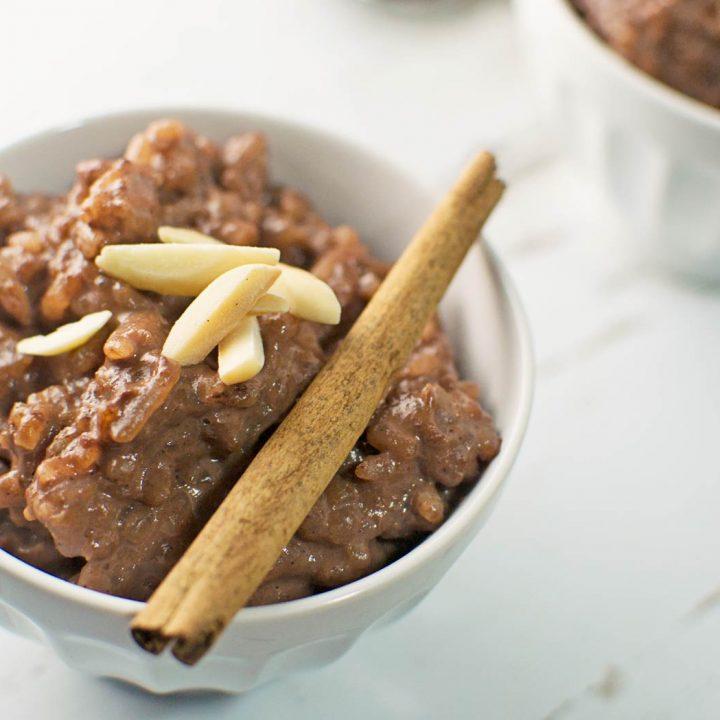 #Chocolate Rice Pudding - @LittleFiggyFood - #Dessert