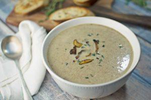 Wild and Skinny Mushroom Soup