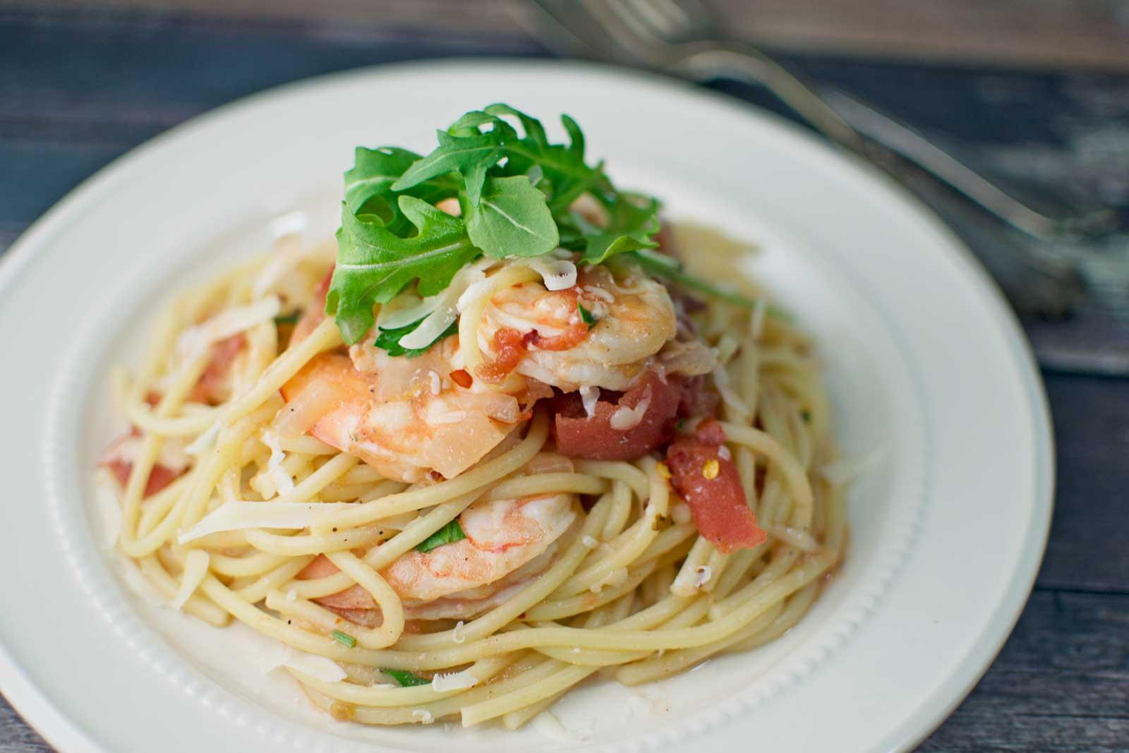 Spicy Shrimp with Pasta