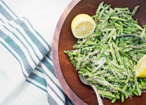 Asparagus with Caesar Dressing