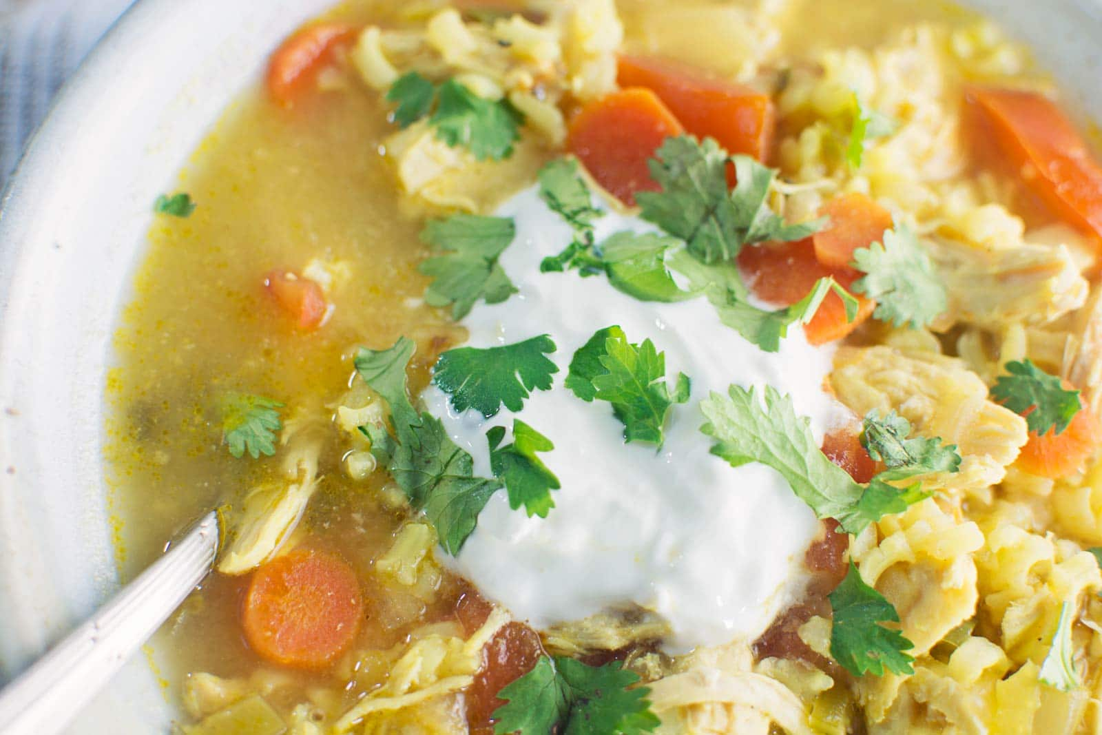 Saffron Chicken and Yellow Rice Soup