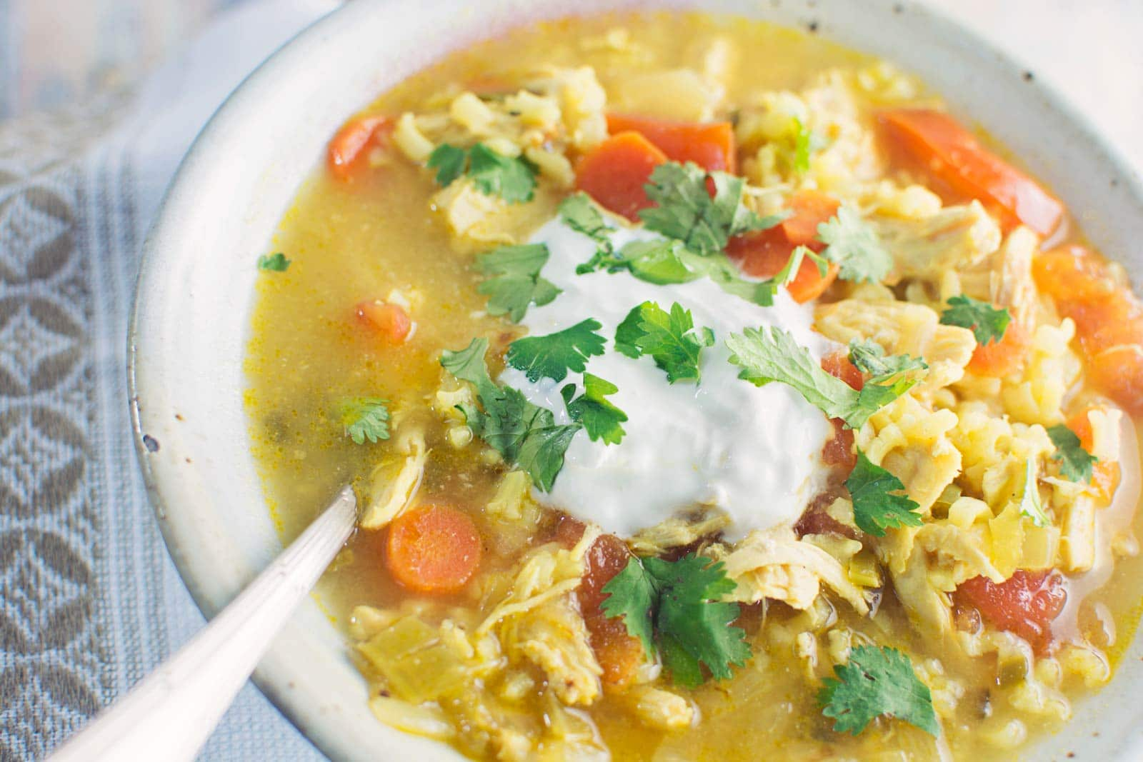 Saffron Chicken & Yellow Rice Soup - this is a great variation on Chicken Soup and is great just because or if you need a