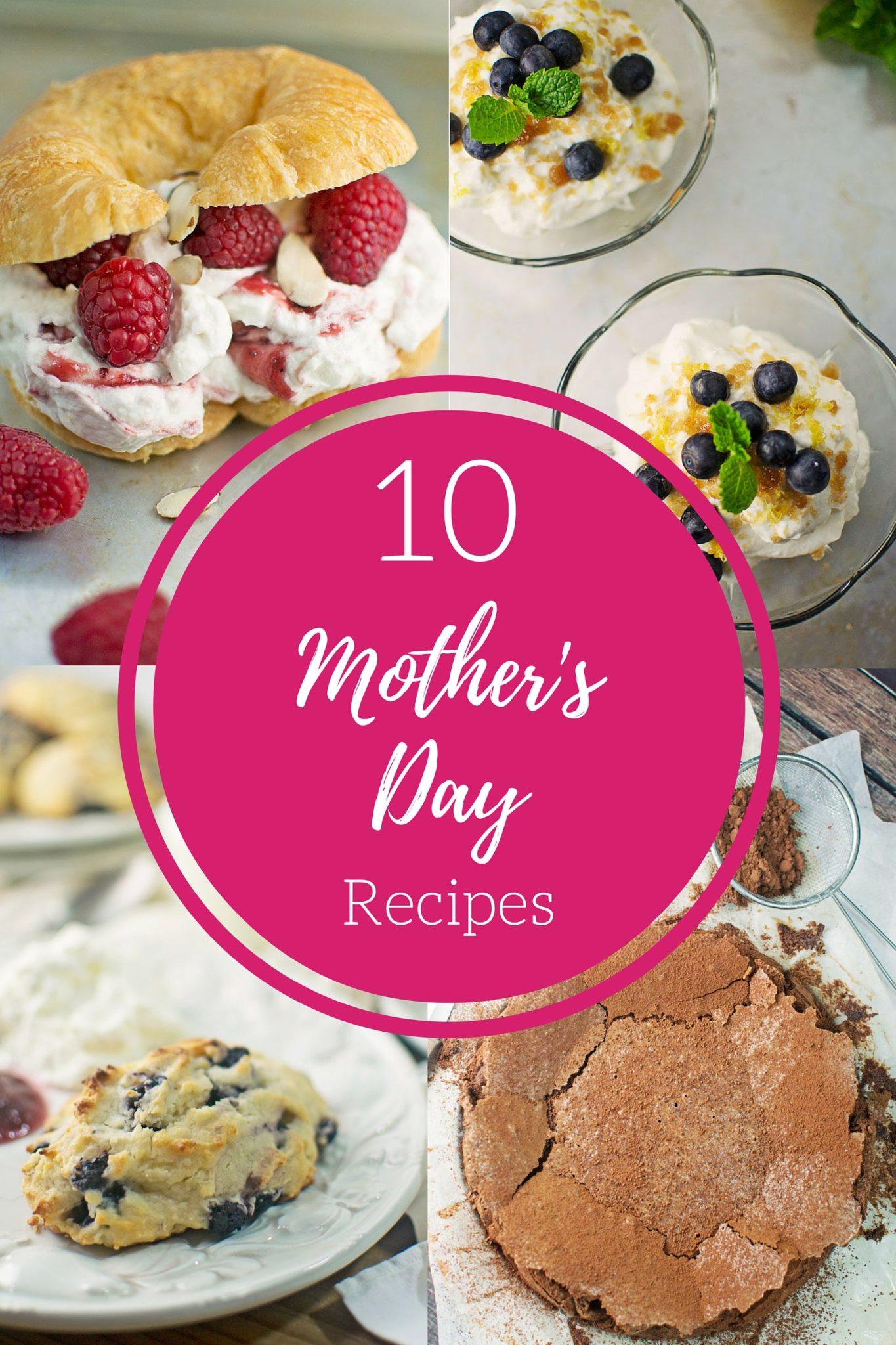 10 wonderfully sweet Mother's Day Recipes found @LittleFiggyFood