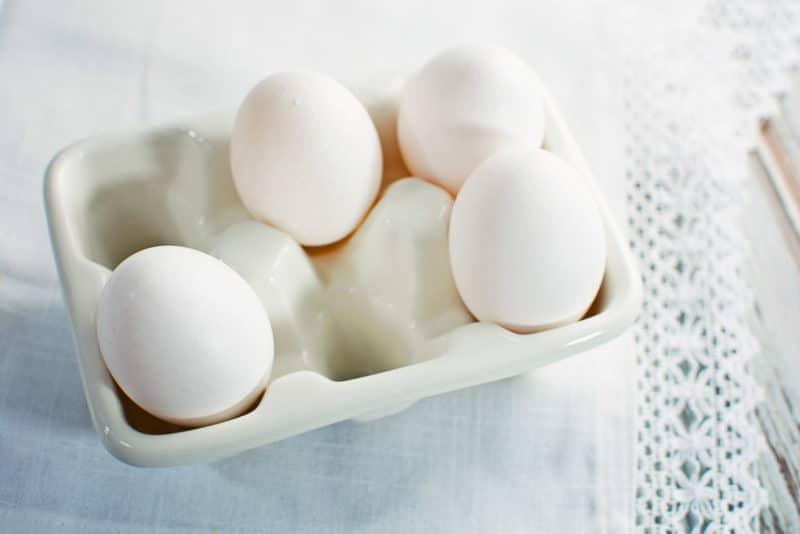 Eggs Ready for Icebox lemon Pie Ice Cream recipe from @LittleFiggyFood.