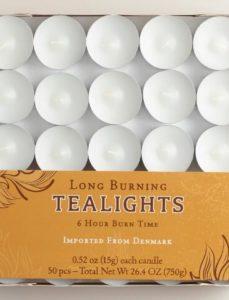 Long Burning Tea Lights 50 Count