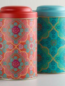 Mosaic Tea Tins