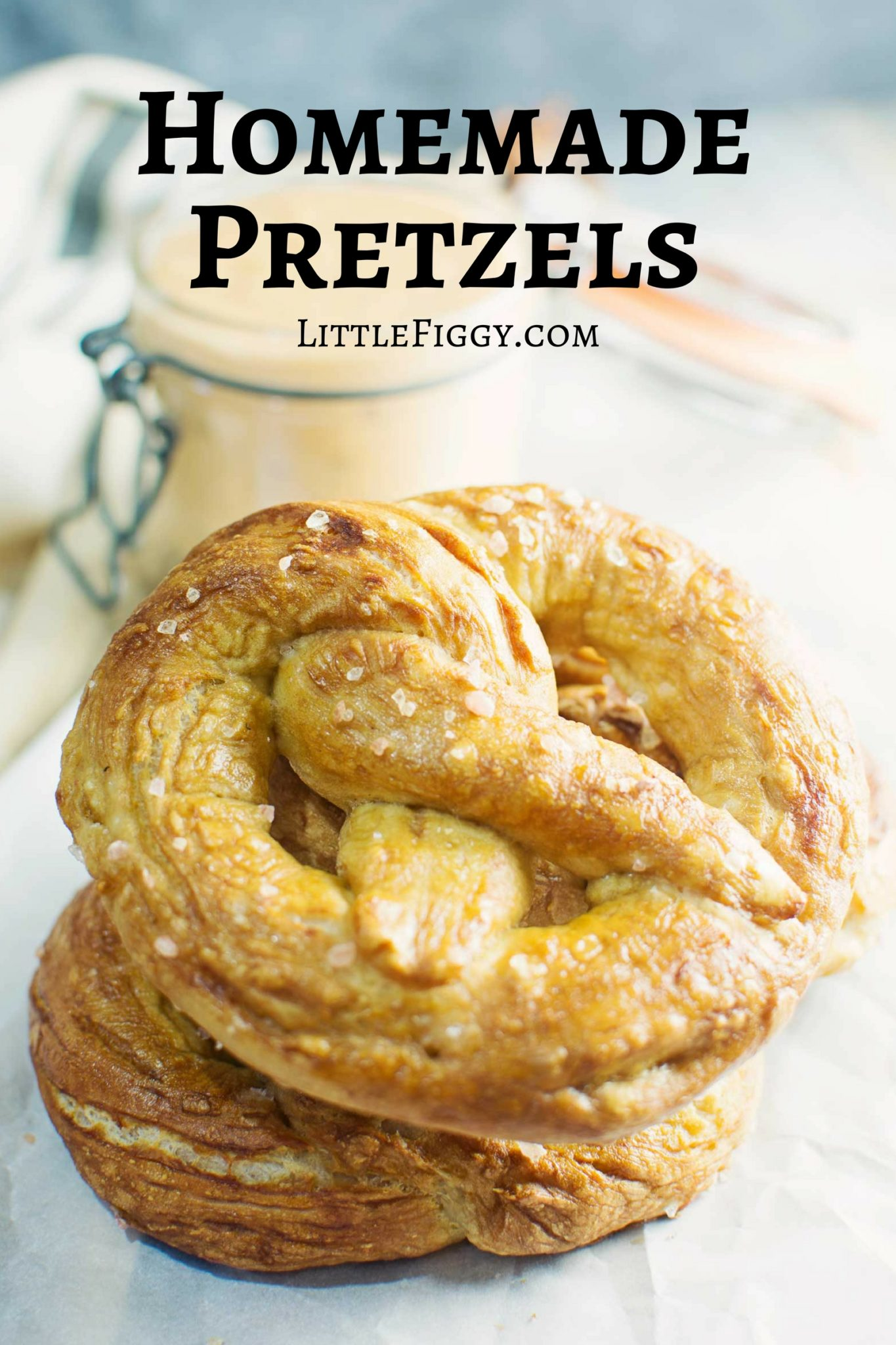 Homemade Pretzels! Soft, buttery with a perfectly chewy crust. Perfect for a snack or party food any time. Recipe @LittleFiggyFood
