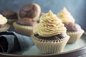 Chocolate and Pumpkin Cupcakes