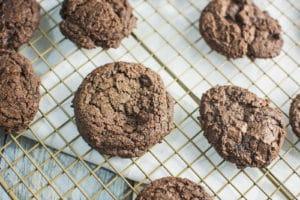 Triple Chocolate Mocha Cookies
