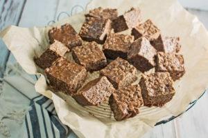 Chocolate Caramel Rice Crispy Treats