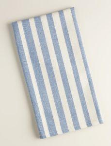Blue Ombre Stripe Kitchen Towel