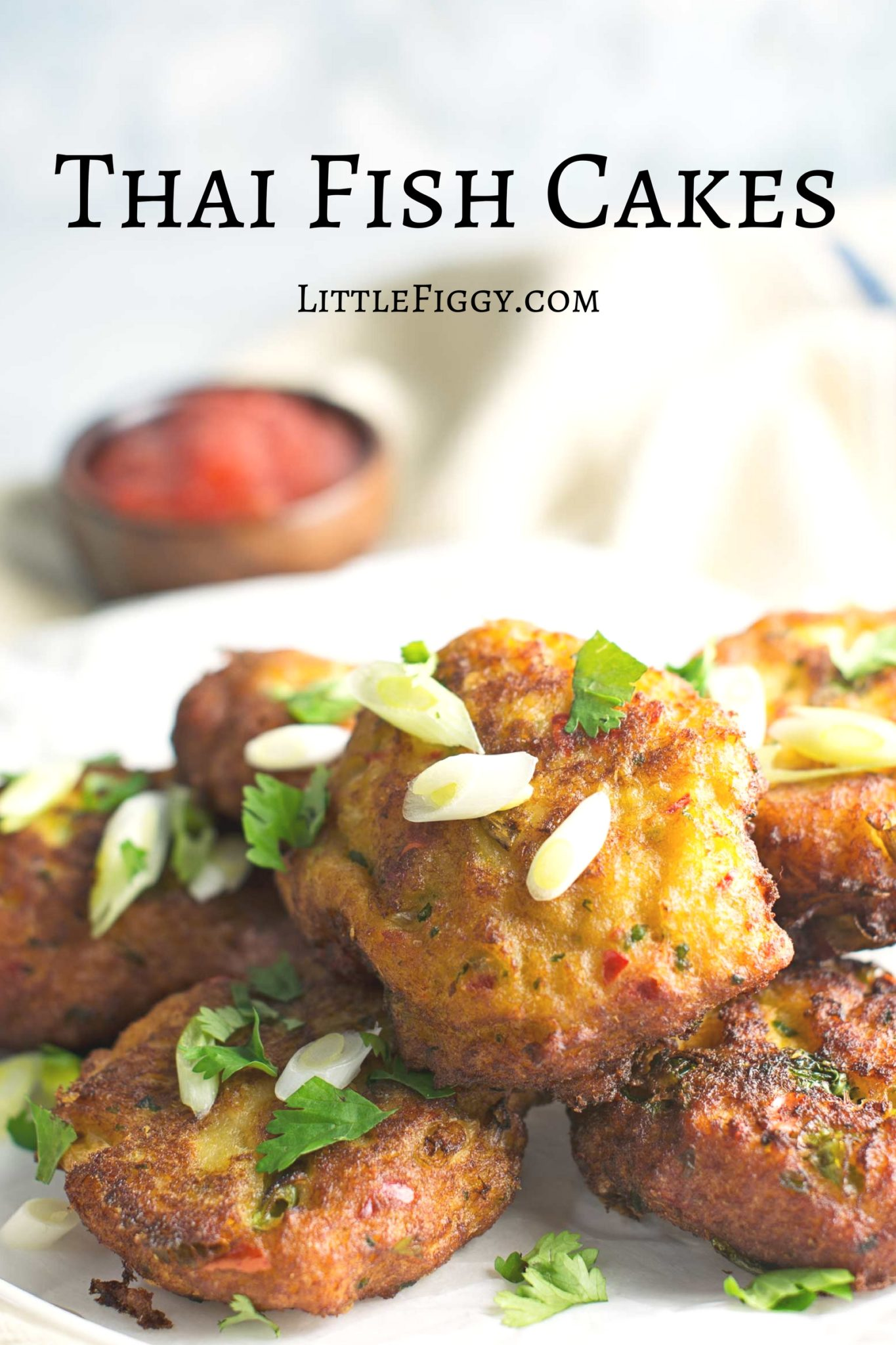 Try these gorgeous bites of goodness, Thai Fish Cakes! Recipe @LittleFiggyFood