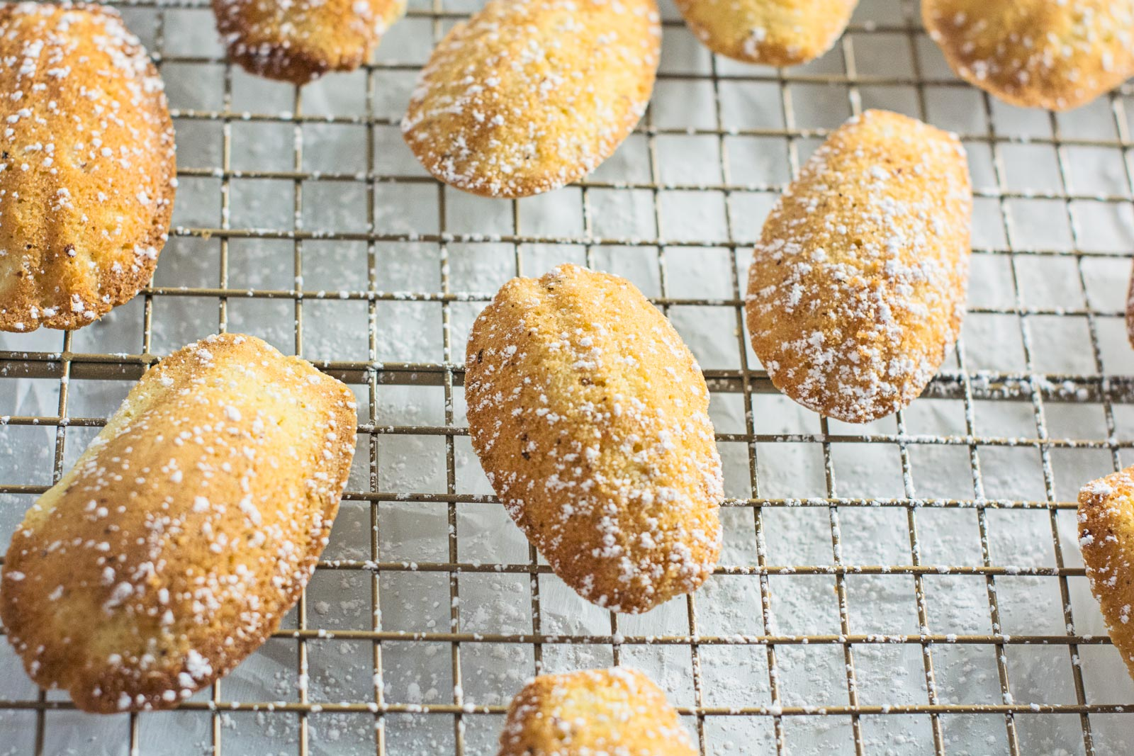 Madeleines with Hazelnuts and Honey