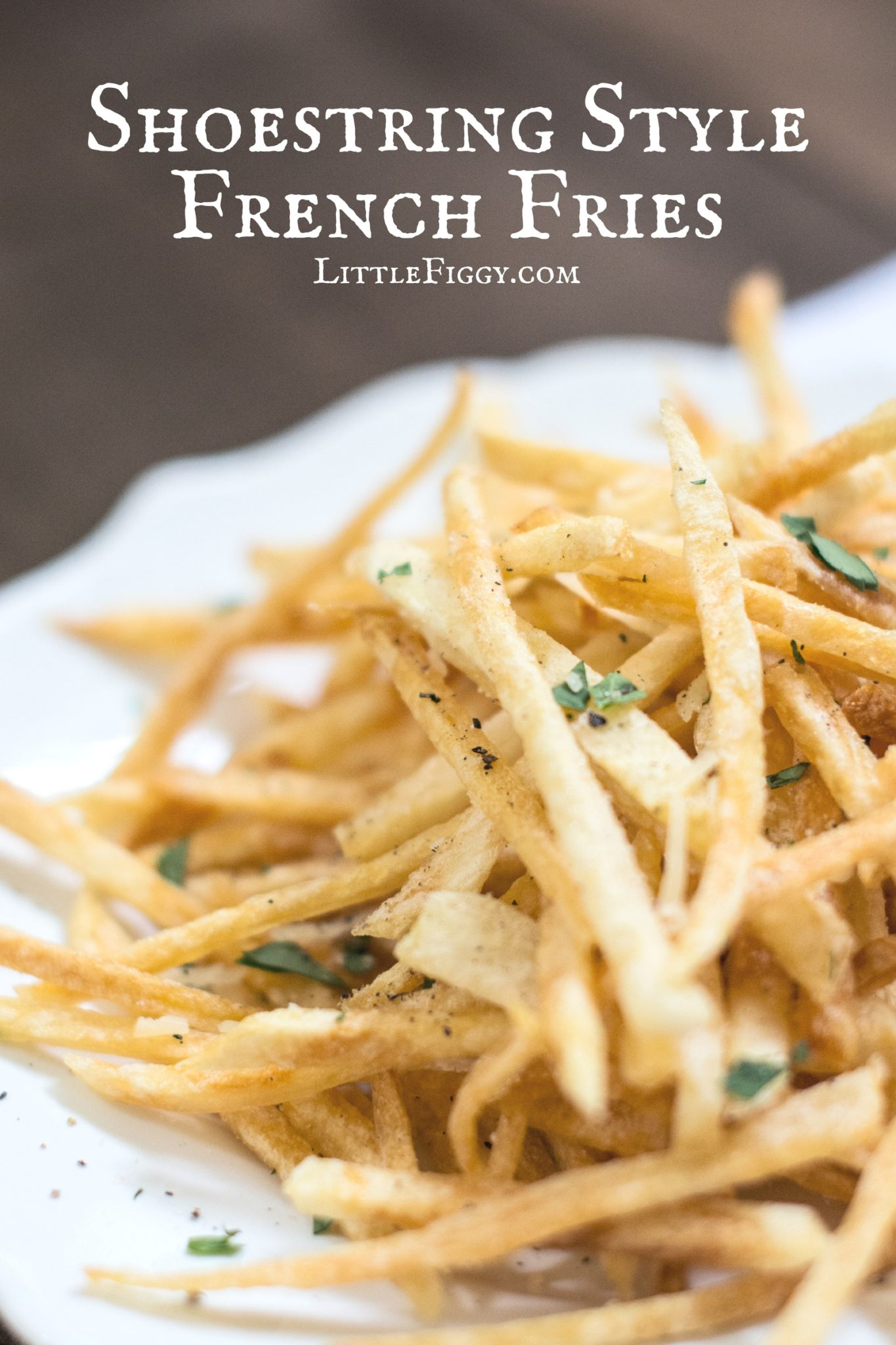 Enjoying these shoestring style French Fries! Find the recipe @LittleFiggyFood