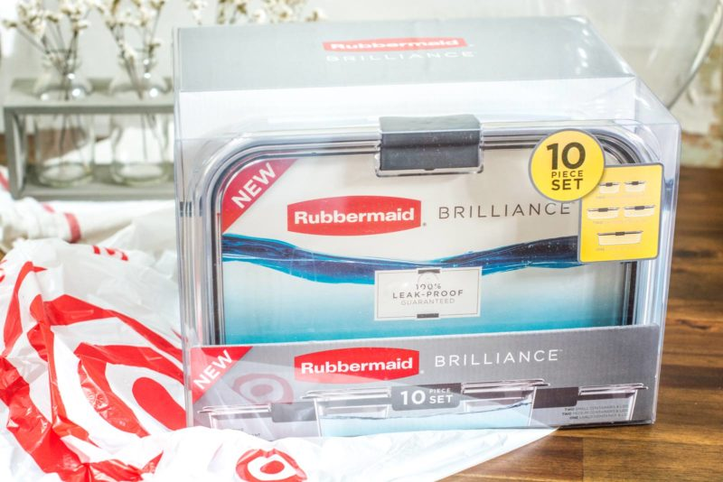 Love these Rubbermaid Brilliance containers! Use them for all of your kitchen storage needs! Find out more at Little Figgy Food.
