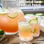 Easy to make Scarlett O'Hara Cocktail Punch