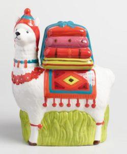 Ceramic Llama Cookie Jar