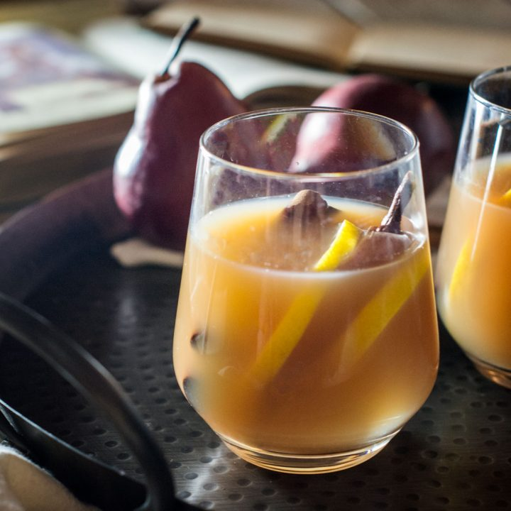 Mulled Pear Hard Cider Cocktail Recipe