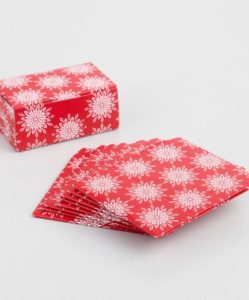 Red Snowflake Confection Boxes