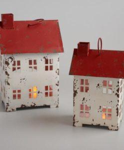 Red and White House Luminaries
