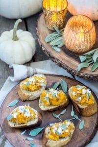Sage and Butternut Bruschetta, The Perfect Fall Appetizer