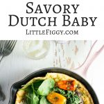 Savory Dutch Baby, perfect for an easy to make brunch, made in my favorite @LeCreuset skillet! Pair the dutch baby with @Pampelonne! #ad ##LeCreusetLove #EnjoyPampelonne