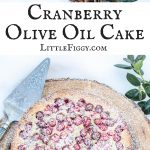 Cranberry Olive Oil Cake with a hint of orange, perfect for the holidays! Happily baked using @Silpat! Get the recipe at Little Figgy Food. #Silpat #ad