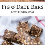 Date and Fig Bars, perfect to give a boost of energy when you are on the go and easy to travel with. Get the recipe at Little Figgy Food. #ad #LetsGoPlaces #4Runner #DriveToyota