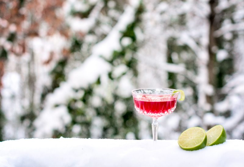 Pomegranate Daisy Cocktail, a great drink for celebrating the holidays!