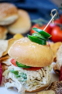 My Go To Mouthwatering Chicken Enchilada Sliders for Game Day