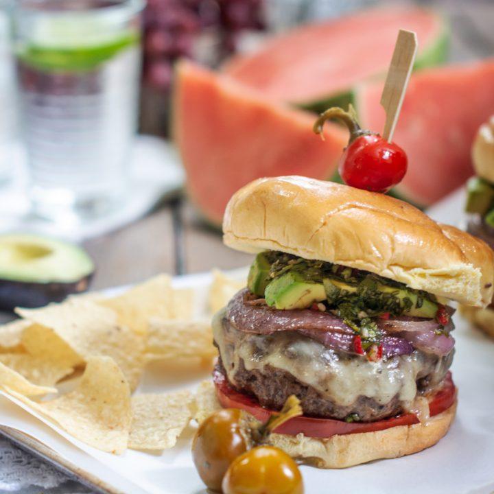 The best chimichurri burger recipe