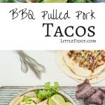 Pulled Pork Carnitas Recipe. Easy Taco recipe with apple salsa and broccoli slaw.