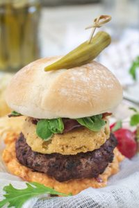 The Southern Burger Recipe with Fried Green Tomatoes